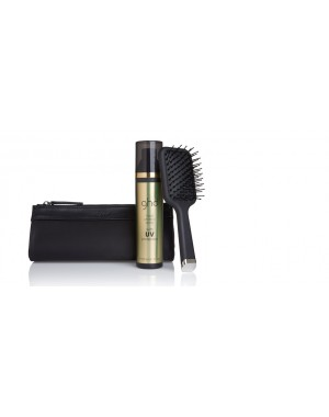 GHD - Style Gift Set - MINI PADDLE & HEAT PROTECT SPRAY CON UV PROTECT