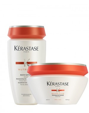 Kérastase Bain Satin 2 250 ml + Masquintense Grossi 200 ml